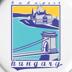 Budapest Chain Bridge, Hungary - Small Buttons