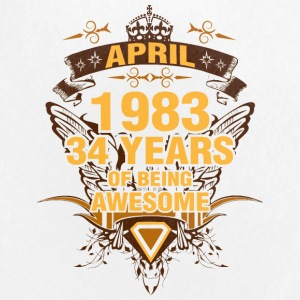 April 1983 34 Years of Being Awesome - Small Buttons