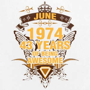June 1974 43 Years of Being Awesome - Small Buttons