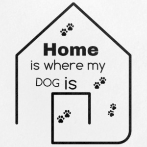 home is where my dog is - Small Buttons
