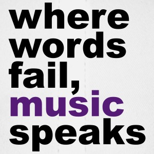 Where Words Fail, Music, Speaks - Baseball Cap