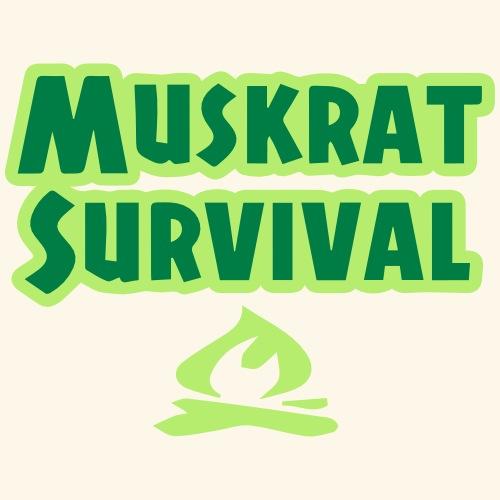 Muskrat Survival text - Baseball Cap