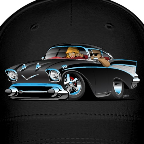 Classic hot rod fifties muscle car - Baseball Cap