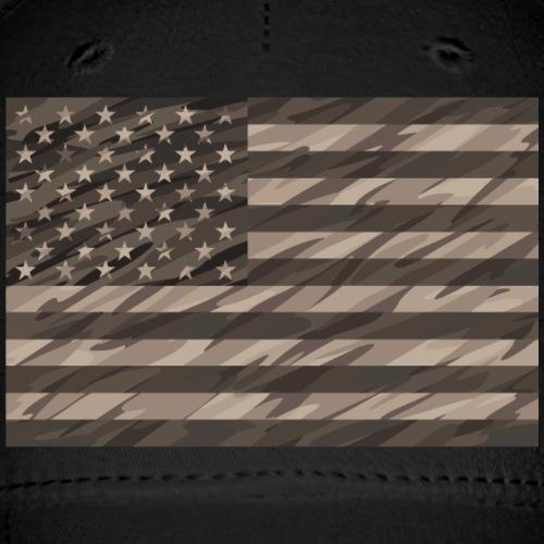 desert cammo flag t - Baseball Cap