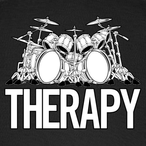 Drummers Therapy Drum Set Cartoon Illustration - Baseball Cap