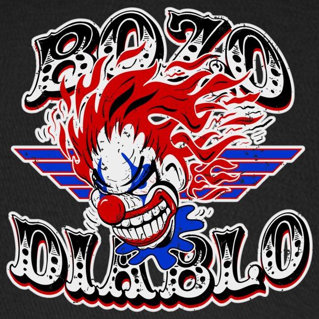 Bozo Diablo Crazy Clown Illustration