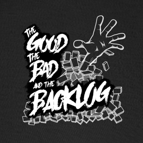The Good, the Bad, and the Backlog - White logo2 - Baseball Cap