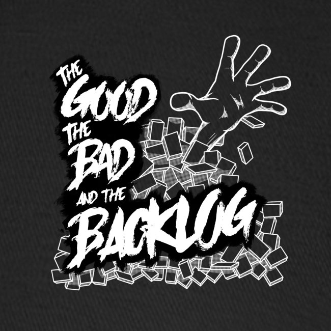 The Good, the Bad, and the Backlog - White logo2