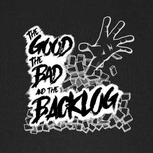 The Good, the Bad, and the Backlog - White logo - Baseball Cap
