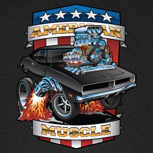 American Muscle Patriotic Muscle Car Cartoon - Baseball Cap