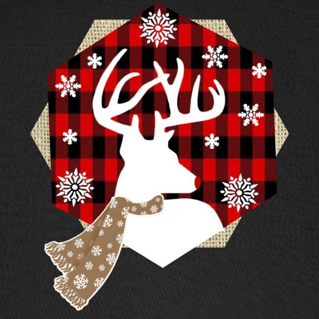 reindeer on plaid