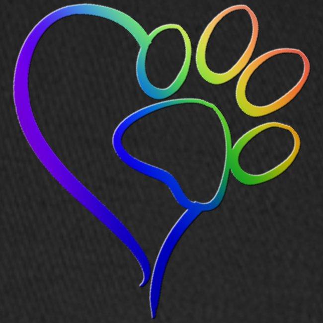 Paw Print on my Heart Rainbow Bridge