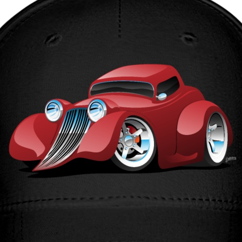 Red Hot Rod Restomod Custom Coupe Cartoon - Baseball Cap