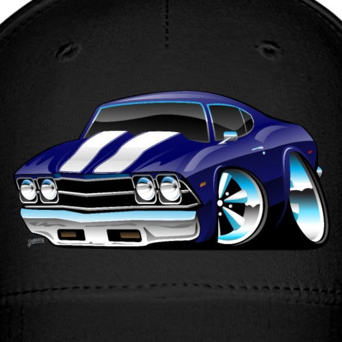 Classic American Muscle Car Cartoon - Baseball Cap