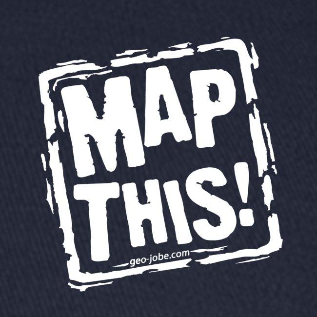 MapThis! White Stamp Logo