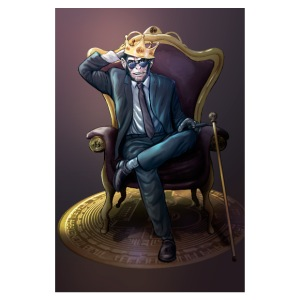 Bitcoin Monkey King - Gamma Edition - Poster 8x12