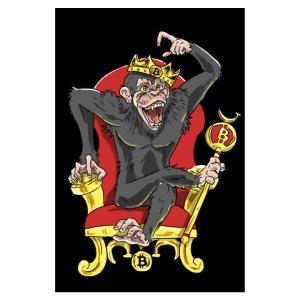 Bitcoin Monkey King - Beta Edition - Poster 8x12