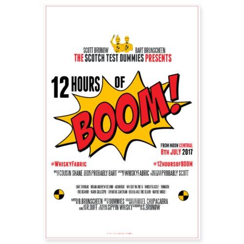 2017 Twelve Hours of Boom Poster - Poster 8x12