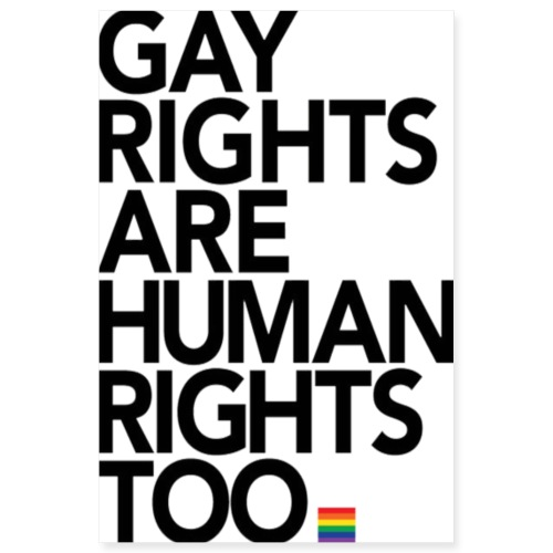 Gay Rights Are Human Rights Poster - Poster 8x12