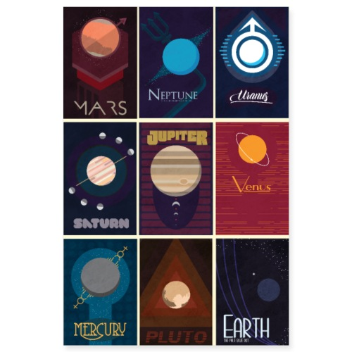 The Solar System Poster - Poster 8x12