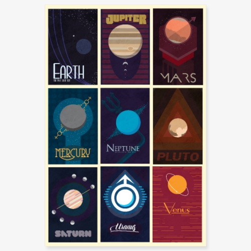 Solar system poster - Poster 8x12