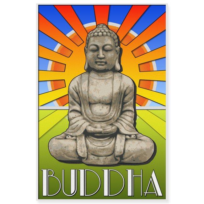 Buddha Art Deco Poster Style Design