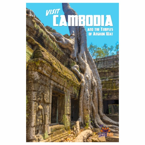 Vintage Cambodia Travel Poster - Poster 8x12