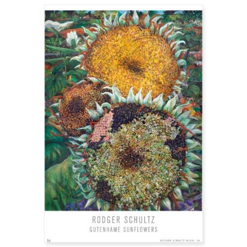 Gutenhame Sunflowers - Poster 8x12