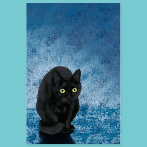 Scared Black Cat Poster - Poster 8x12