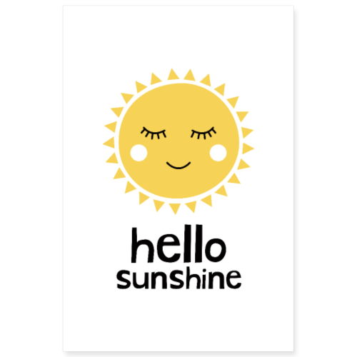Hello Sunshine Yellow - Poster 8x12