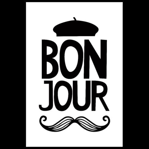 Bonjour Mustache - Nursery - Poster 8x12