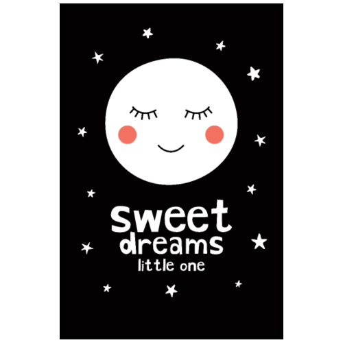 Sleepy Moon - Sweet Dreams Little One - Poster 8x12