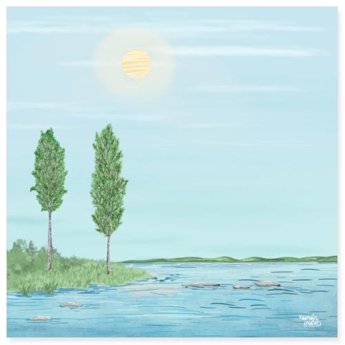Midnightsun in lapland - Lapland8seasons - Poster 8x8