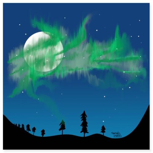 Aurora borealis storm - Poster 8x8