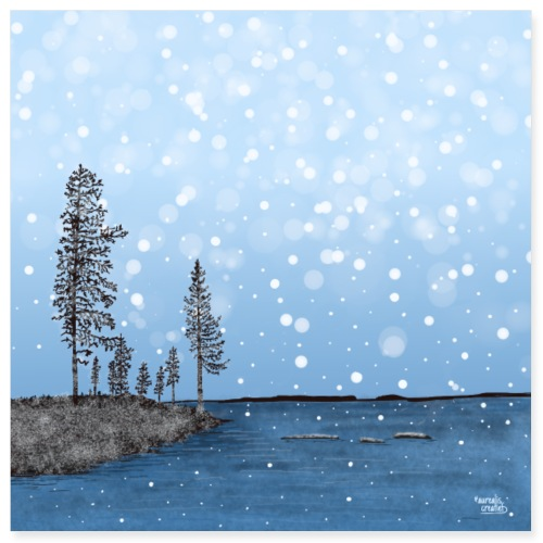 First Snow in Lapland - Poster 8x8