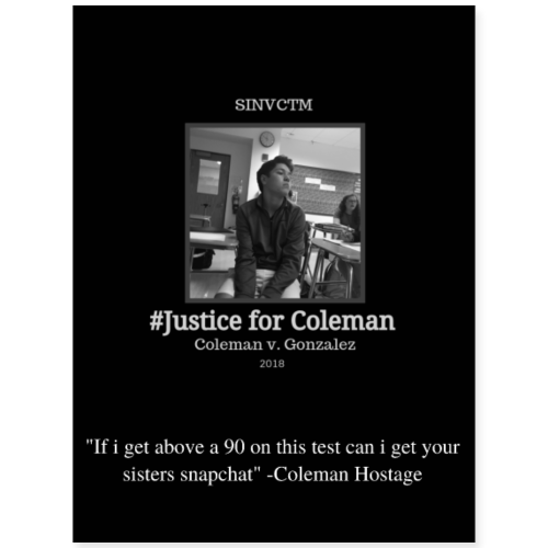 #JusticeForColeman poster
