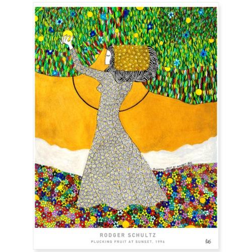 Plucking Fruit At Sunset - Poster 18x24