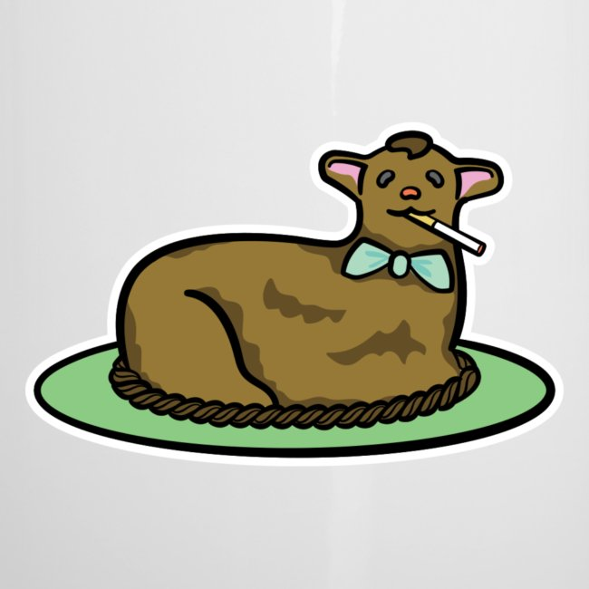 Return To Vices Smoking Chocolate Easter Lamb Cake