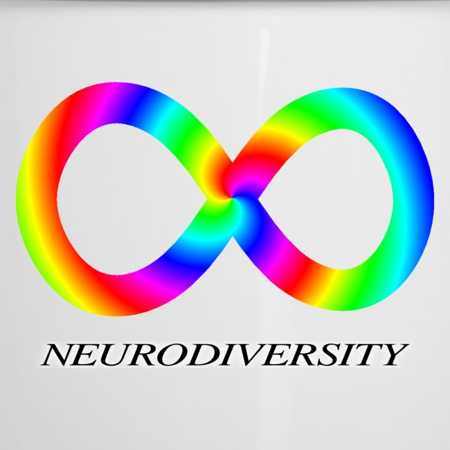 Neurodiversity with Rainbow swirl