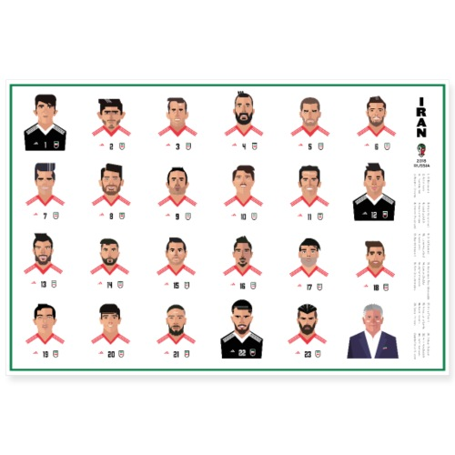 Team Melli 2018 wide poster - Poster 36x24