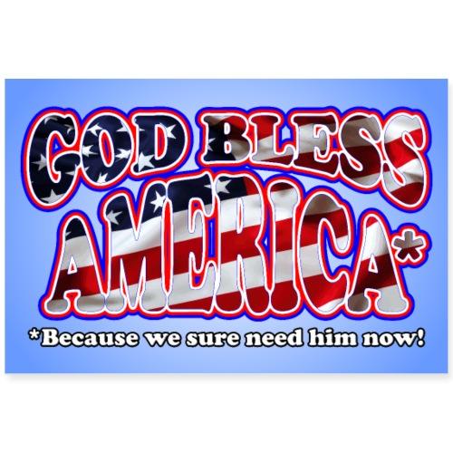 God Bless America Poster - Poster 36x24