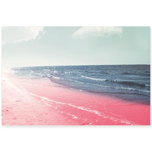 Pink beach - Poster 36x24
