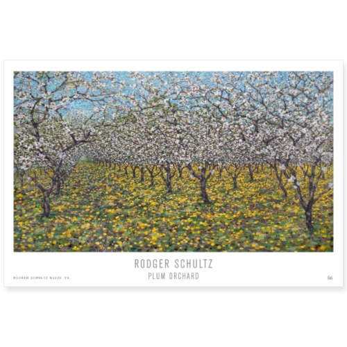 Plum Orchard - Poster 36x24