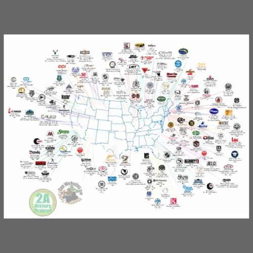 Firearm Industry Map 2021 - Poster 24x18