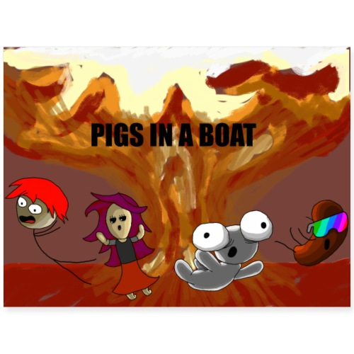 Explosion Group (PIGS IN A BOAT) - Poster 24x18