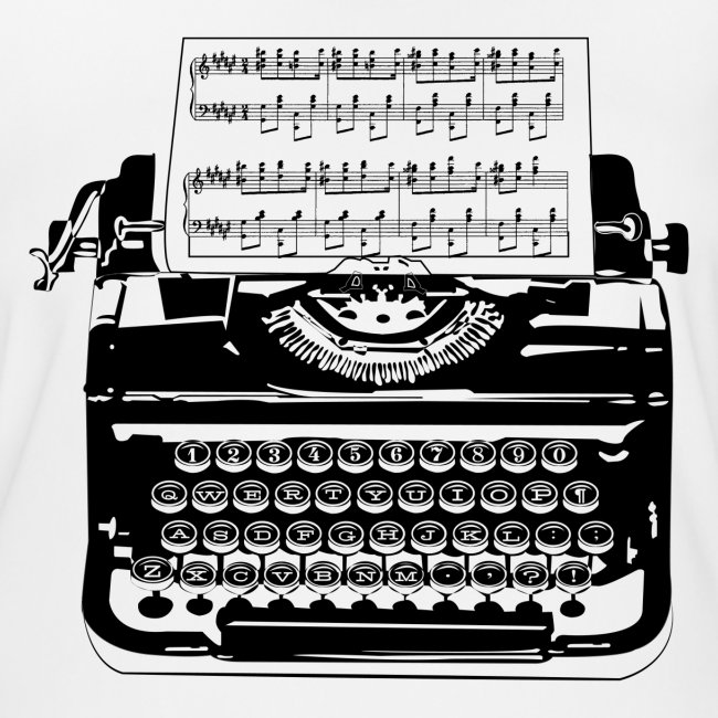 Music Type | Vintage Typewriter