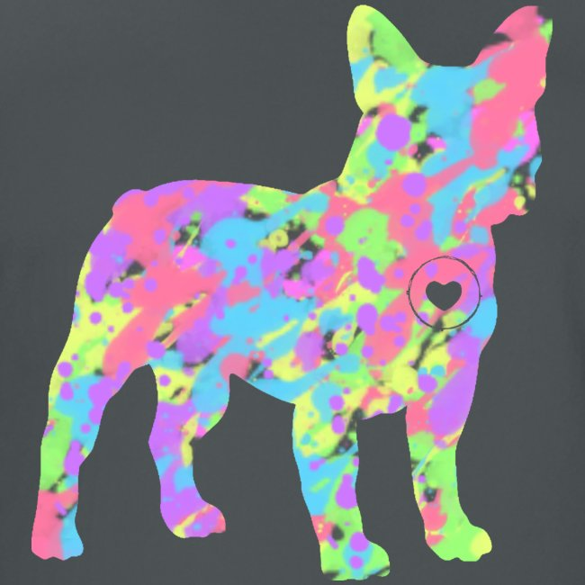 Frenchie love splatter