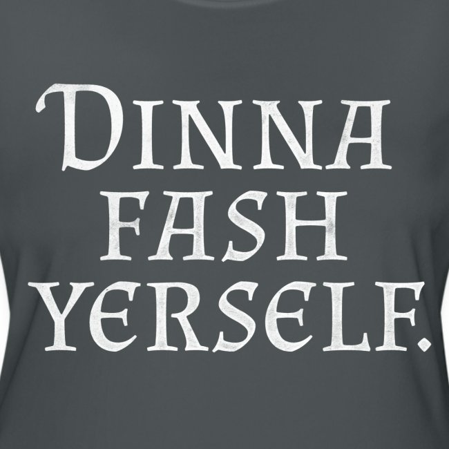 Leds Tees Dinna Fash Yerself White Womens Moisture Wicking Performance T Shirt
