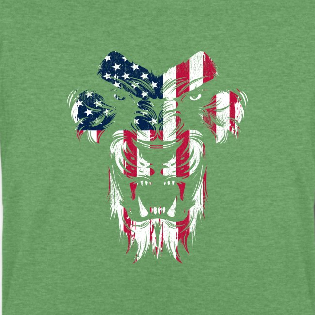 Lovely American Lion USA Flag Silhouette Portrait