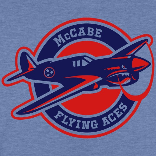 Navy & Red Flying Aces - Kids' Tri-Blend T-Shirt